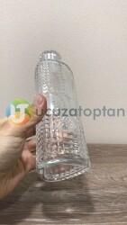 Üç Köşe Model Kristal Kapaklı 450cc Kolonya Şişesi (Model 103) - Thumbnail