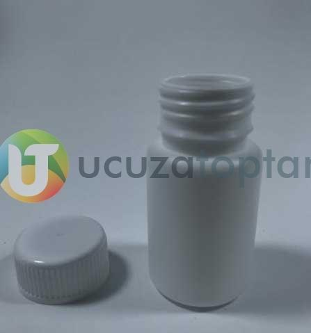Vidalı Kapaklı Silindir 50 ml Çok Amaçlı Plastik Şişe (1 Koli: 200 Adet)