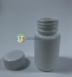 Vidalı Kapaklı Silindir 50 ml Çok Amaçlı Plastik Şişe (1 Koli: 200 Adet) - Thumbnail