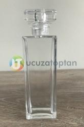 Dikdörtgen Kapama Valfli 50 ml Boş Bargello Cam Parfüm Şişesi - (1 Koli 120 Adet) - Thumbnail