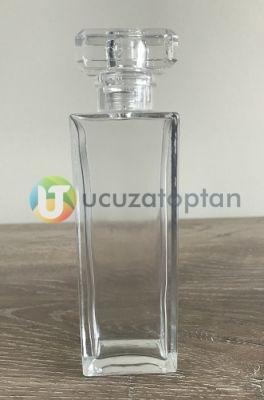 Dikdörtgen Kapama Valfli 50 ml Boş Bargello Cam Parfüm Şişesi - (1 Koli 120 Adet)