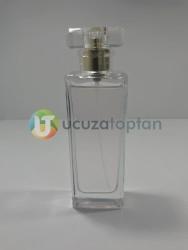 Şık Model Kapatma Valf 55 ml Boş Cam Parfüm Şişesi - (1 Koli 100 Adet) - Thumbnail