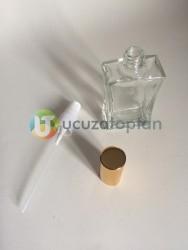 Vidalı Valf 50 ml Boş Cam Parfüm Şişesi İnce Belli - (1 Koli 120 Adet) - Thumbnail