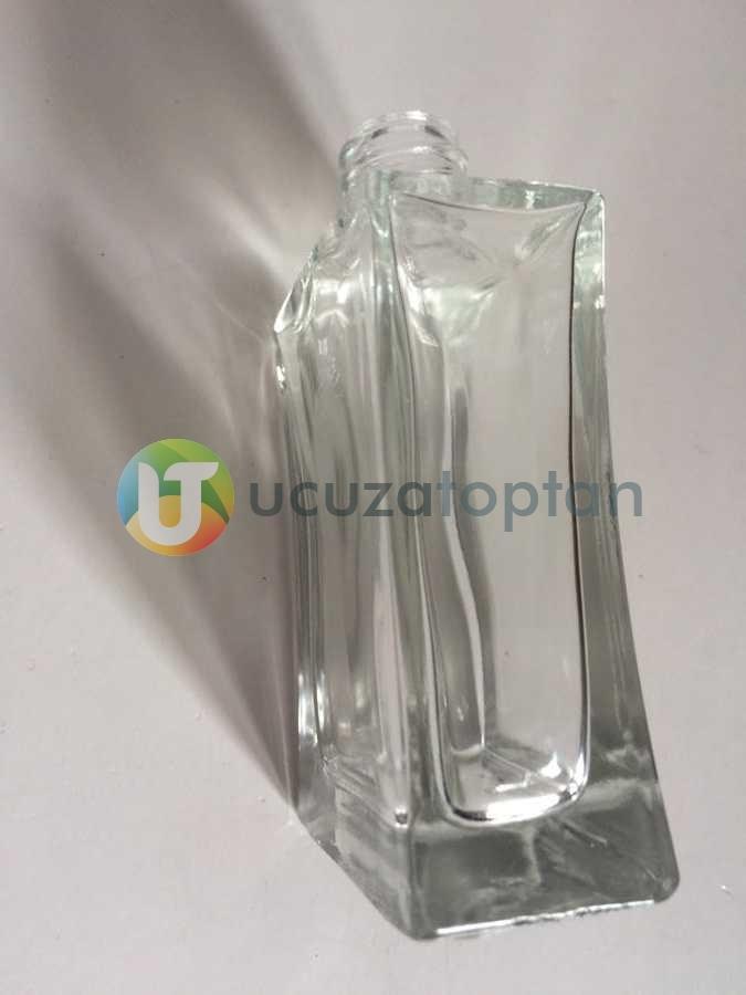 Vidalı Valf 50 ml Boş Cam Parfüm Şişesi İnce Belli - (1 Koli 120 Adet)